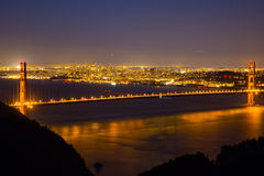 Vue de nuit de golden gate bridge 3 photographie stock