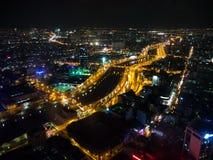 Vue de nuit de Ho Chi Minh, Vietnam Images libres de droits