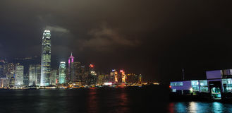 Vue de nuit de Hong Kong Images stock