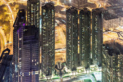vue de nuit de Hong Kong Images libres de droits