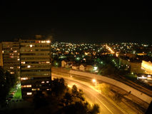 Vue de nuit de Kragujevac Photos libres de droits
