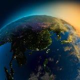 Vue de nuit de l'Asie de Photographie stock