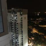 Vue de nuit de l'horizon Photo libre de droits