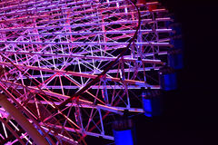 Vue de nuit de l'illumination du ` s de grande roue Photographie stock