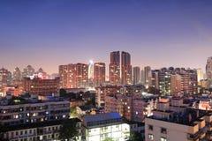 Vue de nuit de la communauté de Jiangjunci (temple général) Photo stock