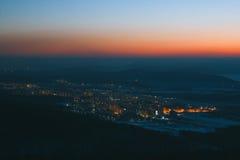 Vue de nuit de la ville Photos libres de droits