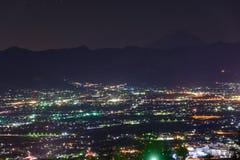 Vue de nuit de la ville de Kofu Photos libres de droits