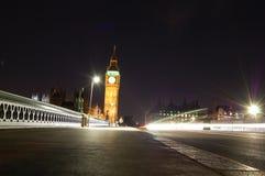 Vue de nuit de Londres Photographie stock libre de droits