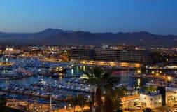 Vue de nuit de Los Cabos, Mexique d'en haut Image stock