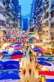 Vue de nuit de marché en plein air de fa Yuen photo libre de droits