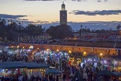 Vue de nuit de Marrakech photos stock