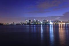 Vue de nuit de Montréal, Canada Image stock