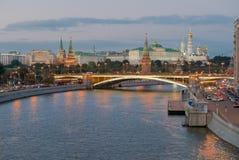 Vue de nuit de Moscou Kremlin Image libre de droits