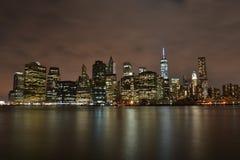 Vue de nuit de New York City Image stock
