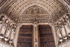 Vue de nuit de Notre Dame Paris photographie stock