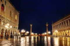 Vue de nuit de place de St Mark, Venise, Italie image stock