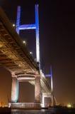 Vue de nuit de pont de baie de YOKOHAMA Photographie stock libre de droits