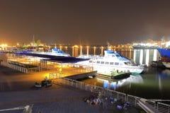 Vue de nuit de port de Kaohsiung photographie stock
