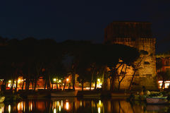 Vue de nuit de quai Images libres de droits