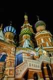 Vue de nuit de St Basil Cathedral Image stock