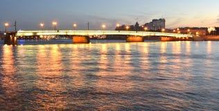 Vue de nuit de St Petersburg Images libres de droits
