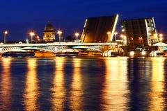 Vue de nuit de St Petersburg Image libre de droits