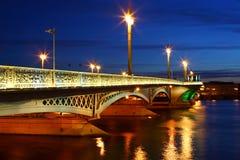 Vue de nuit de St Petersburg Photos stock