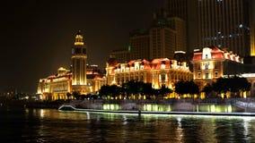 Vue de nuit de Tianjin Photos libres de droits