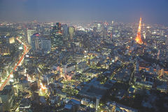 Vue de nuit de Tokyo Photo stock