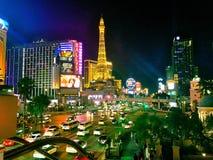 Vue de nuit de vegas Image libre de droits