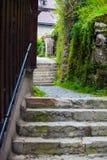 Vue de nuit de village de Hallstatt Photographie stock libre de droits