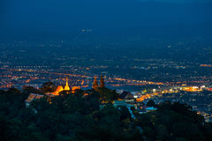 Vue de nuit de ville Images libres de droits