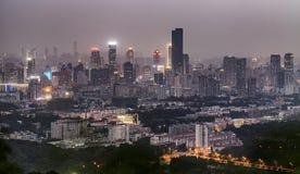 Vue de nuit de ville Image stock