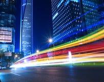 Vue de nuit de ville de Changhaï belle Photographie stock libre de droits