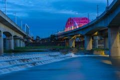 Vue de nuit de ville de Chubei, Hsinchu, Taïwan Images libres de droits