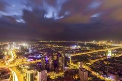 Vue de nuit de ville de Kunmingl Photos stock