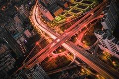 Vue de nuit de ville de Kunmingl Image libre de droits