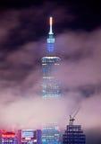 Vue de nuit de ville de Taïpeh Image libre de droits
