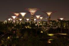 Vue de nuit des jardins par le compartiment Photos libres de droits