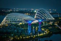 Vue de nuit des jardins par le compartiment Images libres de droits