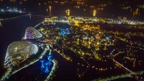 Vue de nuit des jardins par le compartiment Photographie stock libre de droits