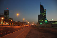 Vue de nuit du Bahrain Manama Image libre de droits