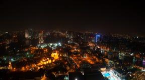 Vue de nuit du Caire de la tour du Caire Photographie stock libre de droits