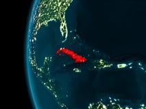 Vue de nuit du Cuba illustration stock