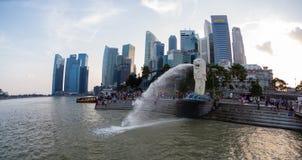 Vue de nuit du jardin Singapour Image libre de droits