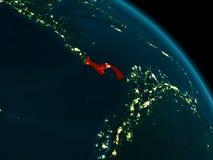 Vue de nuit du Panama sur terre Image stock