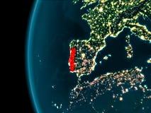 Vue de nuit du Portugal Images stock