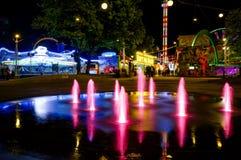 Vue de nuit du Prater, Vienne photographie stock