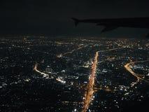 Vue de nuit du vol de ciel photo libre de droits