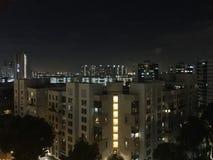 Vue de nuit en dehors de mon Bacolny images stock